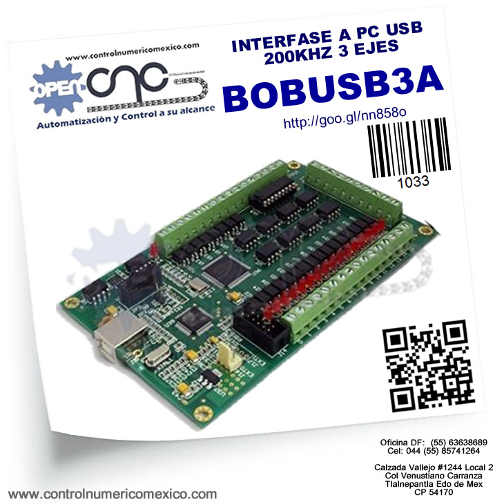 INTERFASE A PC USB 200KHZ 3 EJES
