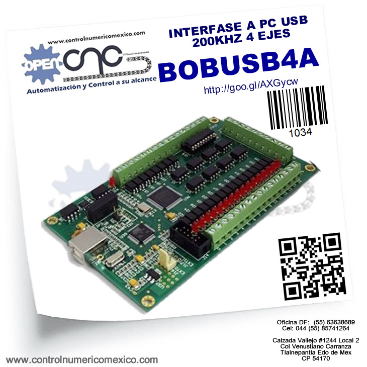 INTERFASE A PC USB 200KHZ 4 EJES